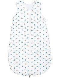 Odenwälder Jersey-Schlafsack Dreiecke blau