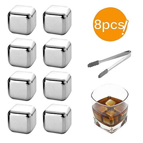 Eisform 304 Kühlsteine, kaltes Getränk aufbewahren, Eiswürfel aus rostfreiem Stahl, wiederverwendbar for Whisky-Weingetränke (Color : Pc Clip)