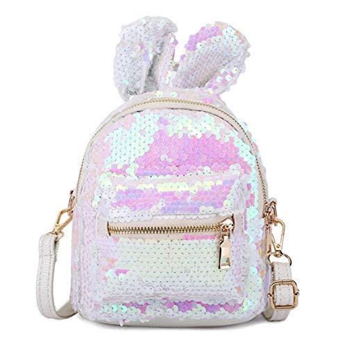 Spalla Ragazze Mini Zaino Moda Paillettes Glitter Zaino Multi Uso Bling Zipper Daypack Di Corsa Con Orecchie Del Schoolbag