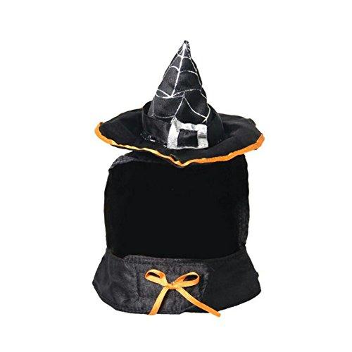 swyivy Halloween Pet Hexe Hut mit verstellbarem Halsband für Katzen und (Gute Kostüme Hexe Ideen)