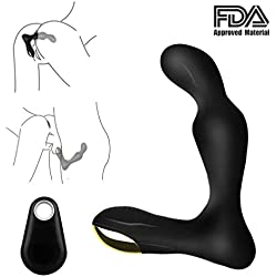 Vibrierender Prostata-Massagegerät für Männer, G-Punkt und Hodenstimulation, mit 10 Geschwindigkeiten, wiederaufladbar, wasserdicht, Anal-Sex-Spielzeug für Männer, Frauen und Paare