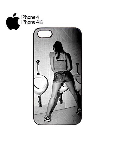 Funny Girl Peeing Women Pee Urinating Bad Mobile Phone Case Cover iPhone 6 Plus + Black Noir