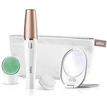 Braun FaceSpa 851V - Sistema 3 En 1 de cepillo de limpieza y depilación facial: elimina el vello, limpia y revitaliza la piel del rostro más 2 pilas adicionales