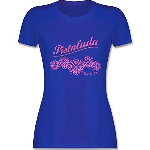 Après Ski - Pistnluda - Schneeflocke pink - tailliertes Premium T-Shirt mit Rundhalsausschnitt für Damen Royalblau