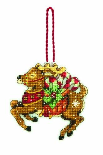 gezählter Kreuzstich, Ornament, Rentier (Rentier Ornament)