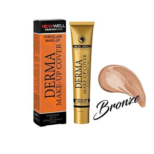 NewWell - Derma Make-Up Cover - Foundation mit Porzellaneffekt - BRONZE (BRONZE) (Dermablend Foundation Bronze)