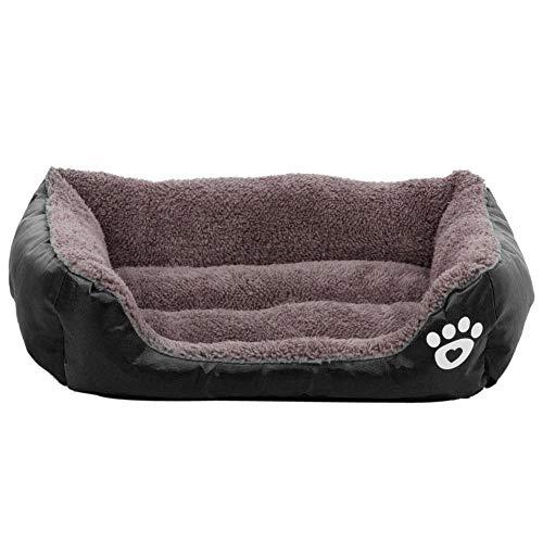 Demiawaking Letto per Gatto/Cane Nido Cuccia Quadrato Cuscino Morbido Caldo per Animale Domestico (XL :80 X 65 X 17cm, Nero)