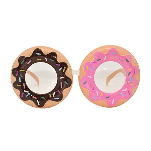 BESTOYARD Donut Brillen Cosplay Kostüm Zubehör Lustige Foto Requisiten Dress Up Gläser für Kinder Erwachsene Geburtstag Urlaub Hochzeit Masquarade Liefert