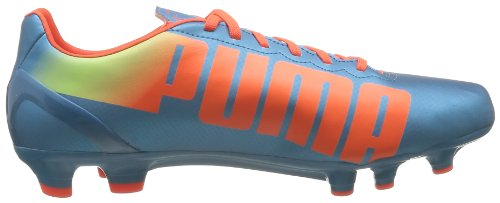 Puma  evoSPEED 4.2 FG, Chaussures de football hommes Bleu (Blue/Peach/Fluro Yellow)