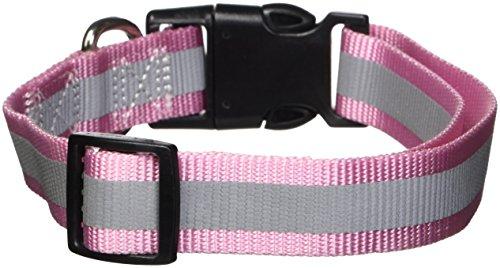 Guardian Gear Reflektierendes Hundehalsband, passend für Halsgrößen von 45,7 bis 66 cm, Rosa -