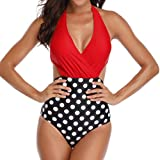 Mymyguoe Bikini siamés con Cuello en V de una Pieza Bikinis Mujer 2019 Push up Traje de baño Mujer Sexy Bikinis brasileños Bikini Tanga Playa Bañadores de Natacion