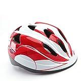 HTAA 3 Awesome Kinderfahrradhelme für Design - Für Radfahren, Eislaufen, Skateboarding - Verstellbare Kopfbandbelüftung (Farbe : Rot, größe : M)