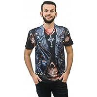 Il celibato 14014242.008.S - Mens T-Shirt Rocker - manica corta, taglia S (44/46), multicolore