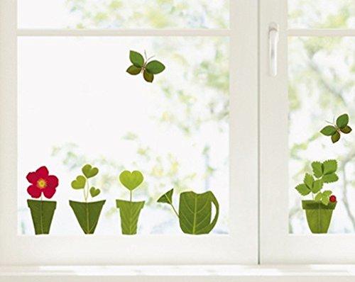 Fenstersticker Blumen und Schmetterlinge