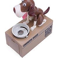 Preisvergleich für Süße hungrig Essen Hund Coin Bank, Konesky Dog Coin Piggy Bank Münze kauen Spielzeug stehlen Geld sparen Box Ideal Geburtstag Weihnachtsgeschenk für Kinder, Kinder