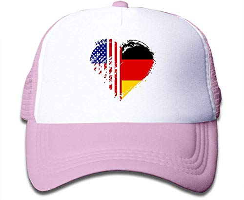 Voxpkrs Grungy German American Flag Heart On Boys and Girls Trucker Hat, Youth Toddler Mesh Hats Baseball Cap Comfortable32568