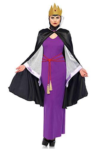 Leg Avenue 85633 2 teilig Set Tödliche Dunkle Königin, Damen Karneval Kostüm Fasching, S/M, mehrfarbig (Dunkler Karneval Kostüm)