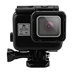 YOEMELY Waterproof Diving Housing for GoPro hero 5 with Touching Back Door for 40 meters Underwater Photography (Black PC)