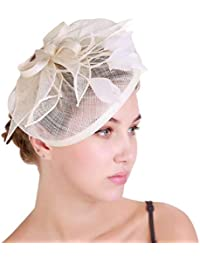 Screenes Gorros Mujeres Transparente Flor Sombrero Elegante Cinta Forma  Lisa Pluma Estilo Simple Novia Sombrero Gorros 8a955cf0e33