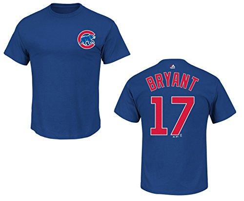 Majestic Kris Bryant Chicago Cubs Blau Youth Name und Nummer Jersey T-Shirt, Jungen Mädchen, königsblau, Youth XL -