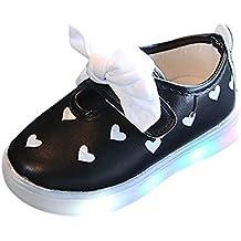 Lindos Zapatos para bebés, niños pequeños Bowknot niños Zapatos de corazón para bebés