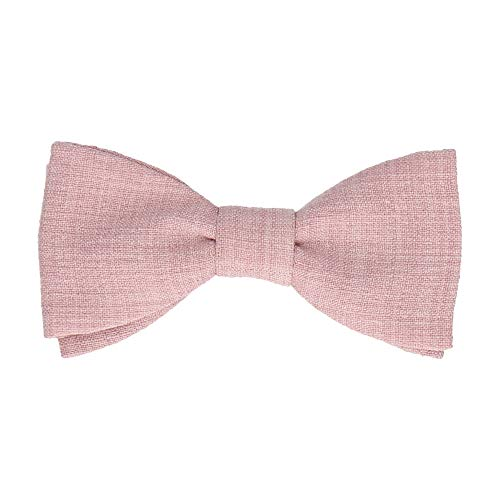 Mrs Bow Tie Isaac Textured Fliege, Selbstbinde Fliege - Hellrosa Fashion Silk Bow Tie
