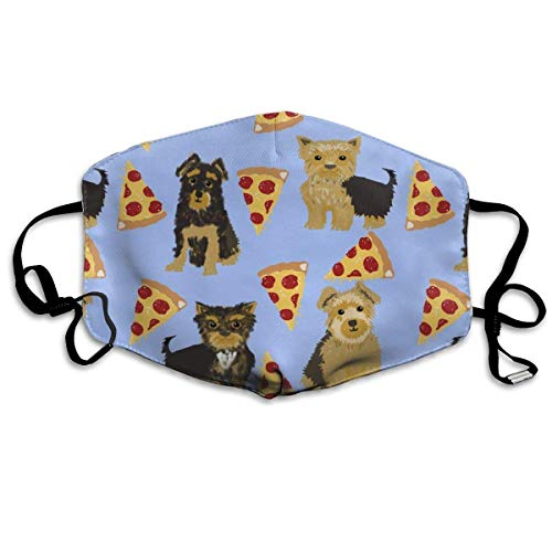 EighthStore Yorkie Pizza Yorkshire Terriers Pizza Funny Cute Dog Novelty Food Print for Yorkie Owners Best Dogs for Home Dec Anti Dust Mask Anti Pollution Washable Reusable Mouth M Mund Maske - Food Dog Yorkie