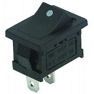 Ett-Mini pulsante a bilanciere a 2poli, interruttore a bilanciere con punto (2 Descrizione Pulsante)