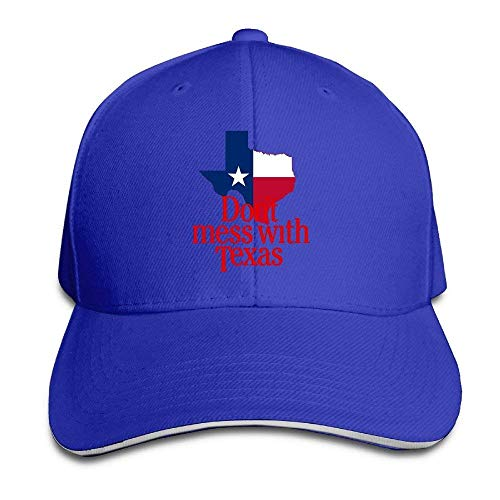 uykjuykj Caps Hats Unisex Don't Mess with Texas Snapback Baseball Cap Ash One Size Adjustable Unique Personality Cap Baseballmütze (Honig Aus Texas)
