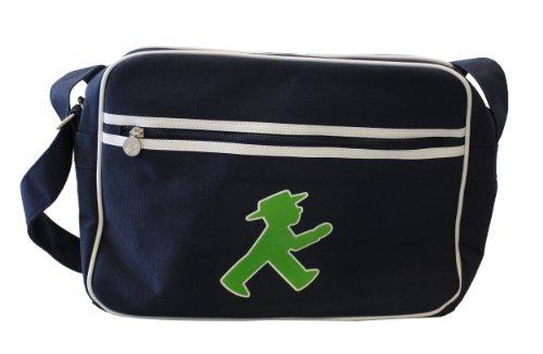 Ampelmann 108104415 - Sporttasche Canvas, Geher, blau (Bh Umhängeband)