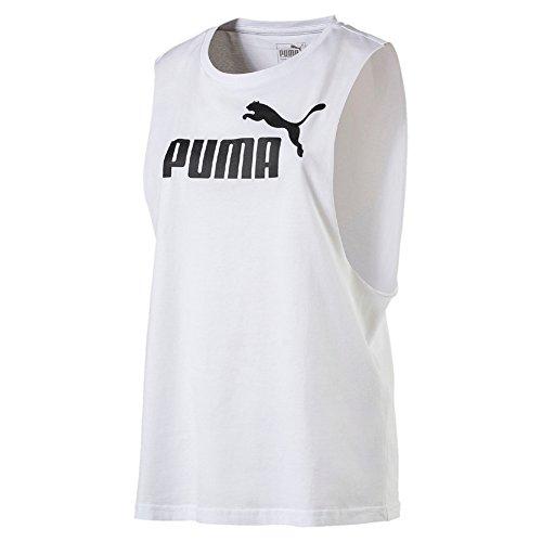 Camiseta para mujer con tirantes deportiva elastica sin mangas con aberturas color blanco running fitness talla S - PUMA