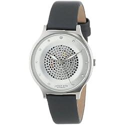 Johan Eric Damen JE1600-04-001.3 Orstead Round Stainless Steel Silver Sunray Dial Swarovski Crystal Armbanduhr