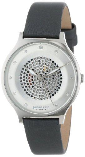 Johan Eric Mujer JE1600-04-001.3 Orstead Round Stainless Steel Silver Sunray Dial Swarovski Crystal Reloj