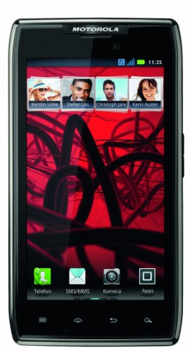 Motorola RAZR Maxx Smartphone (10,9 cm (4,3 Zoll) AMOLED-Touchscreen, 8 Megapixel Kamera, Android 4.0 OS) schwarz -