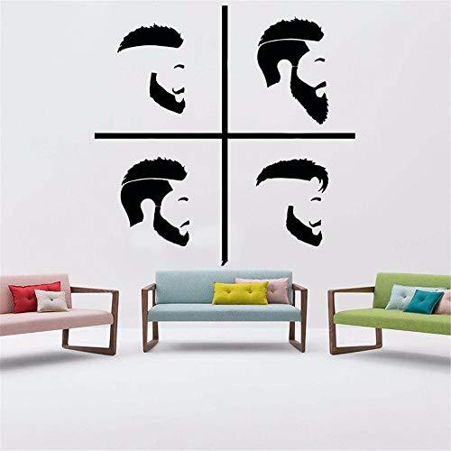 Wandtattoo Schlafzimmer Haar Design Hipster Salon Schild Friseur Bart Logo Dekoration Barbershop Decals