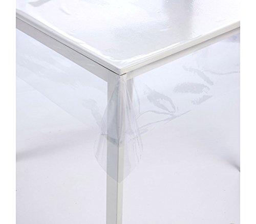 Mediawave store tovaglia cerata quadrata 140x140 cm 302965 in pvc trasparente e impermeabile