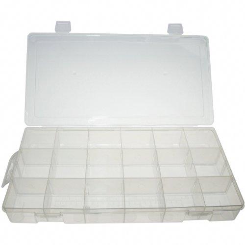 Preisvergleich Produktbild Universal leere Sortimentsbox für Kleinteilen / Sortimentskasten / Sortimentskoffer / Aufbewahrungsbox / Sortierkasten mit 18 Fach / Fächer