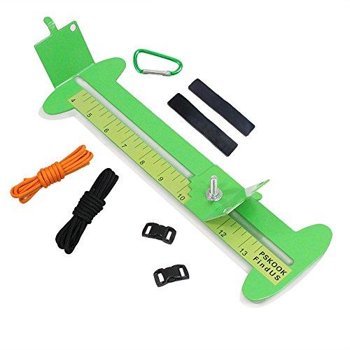 """PSKOOK 550 Paracord Armband Jig Kit Geflochtenes Metallgestell 4"""" to 13""""DIY Handwerk Maker Werkzeug Fallschirmschnur und Schnallen(Grün)"""