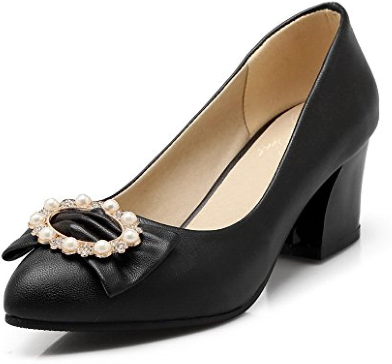 BalaMasa Perle pour Femme Perle Perle BalaMasa en Matière Souple Pumps-Shoes Noir, 39.5 EU, APL03610B01L5I1PO0Parent 13f5f0
