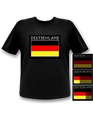 Deutschland Shirt Leuchtshirt LED T-Shirt