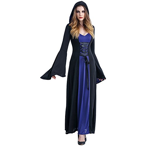 Ditshore - costume di carnevale da strega, da vampiro, da sposa fantasma, da donna