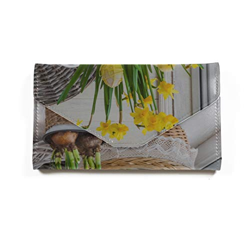 Frühling gelbe Blume Narzisse mit Garten Travel Passport Wallet dreifach gefaltete Document Organizer Inhaber Pass Inhaber Cover Cover Passport 1261 Handy