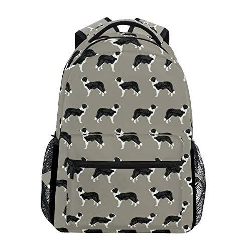Stilvoll Border Collie Dog Brown Rucksack-Leichte School College Reisetaschen 16 X 11,5 X 8 Zoll -
