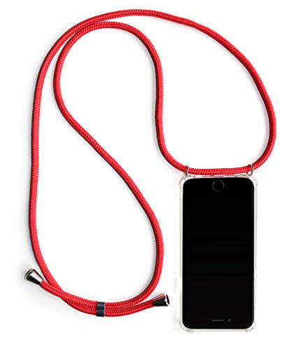 tuca Handykette inkl. Handyhülle für Dein Samsung Galaxy S7 | Handyhülle zum umhängen in Premiumqualität Rot