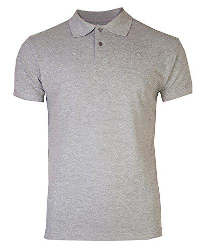 Brody & Co. Herren Poloshirt, Einfarbig Blau Blau Grau - Grau (Grey Marl)