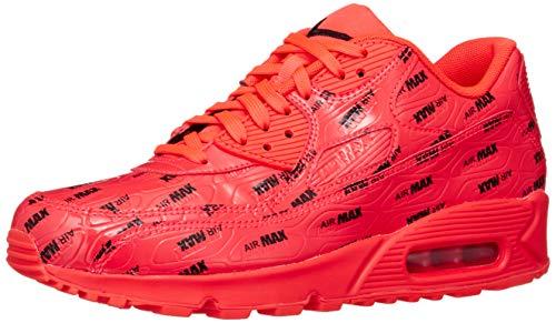 Nike Herren Air Max 90 Premium Laufschuhe, Mehrfarbig Bright Crimson/Black 604, 45 - Premium 90 Nike Herren Air Max
