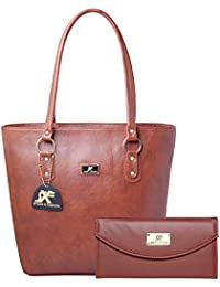 Speed X Fashion Women's Handbag And Girl's Handbag And Wallet Clutch Combo(Brown)