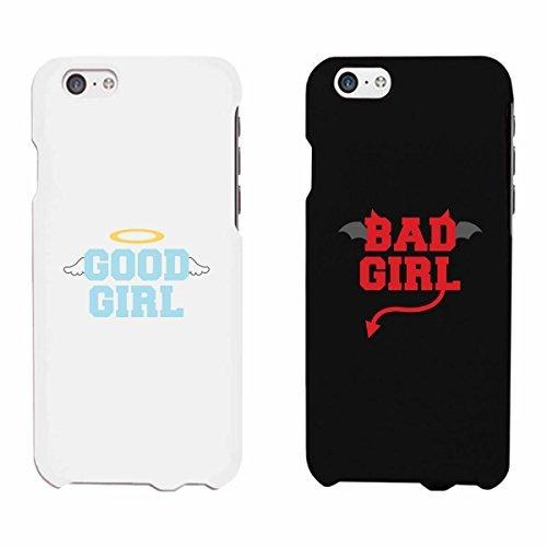 365impresión y Bad Girl Good Girl Negro y Blanco a juego con mejores amigos teléfono casos regalo de Navidad para Bff, plástico, negro / blanco, iPhone 6 / iPhone 6
