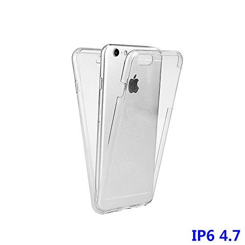 """xhorizon Étui mince anti-choc 360 degré,Étui protection transparent avant et arrière en TPU pour iPhone 6/ iPhone 6S [4.7""""] transparent"""