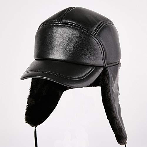 Kaijin berretto da baseball per protezione dell'orecchio da uomo cappello da donna feng anziano cappelli da pelliccia da uomo invernali caldi all'aperto cappello da uomo in pelle cappello pergamena